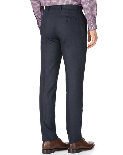 Indigo slim fit saxony business suit trousers