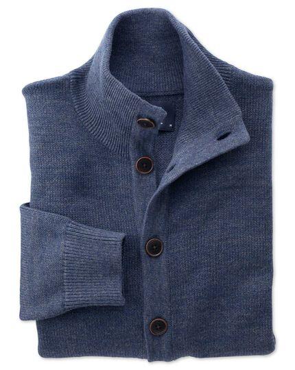 Indigo blue heather cardigan