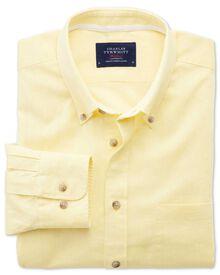 Classic Fit Hemd in Gelb