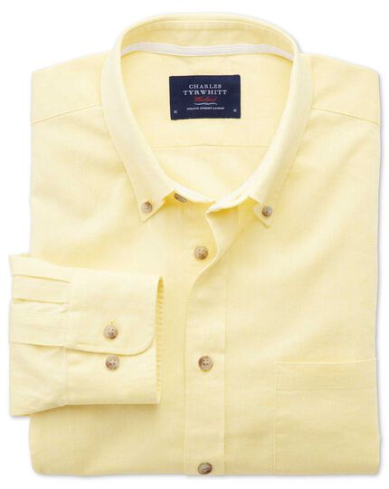 Slim fit yellow shirt