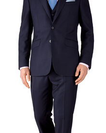 Ink slim fit birdseye travel suit