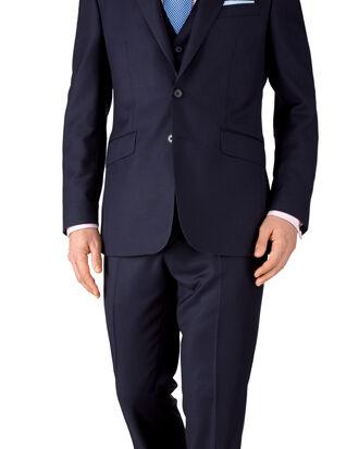 Costume bleu encre slim fit œil-de-perdrix à construction semi-entoilée