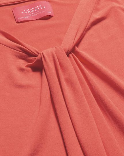 Women's coral knot detail jersey top