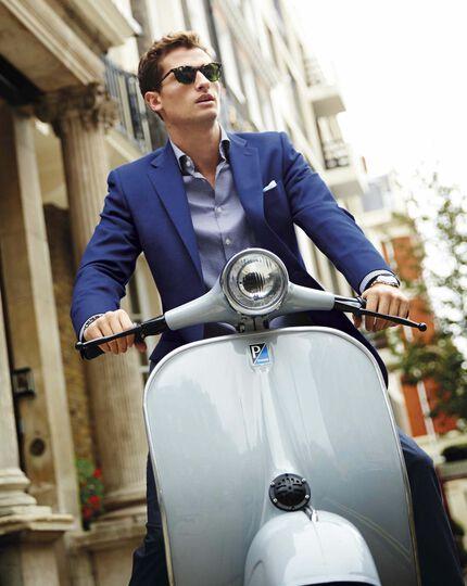 Slim fit royal blue wool blazer
