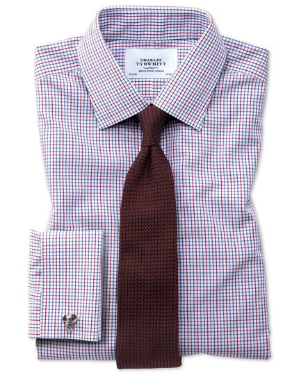 Extra slim fit non-iron multi grid check shirt