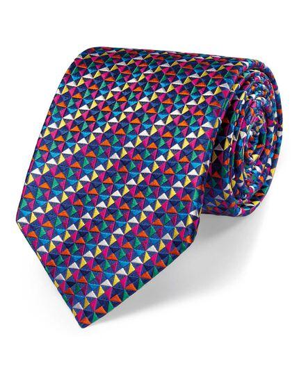 Multi silk luxury multi triangle tie