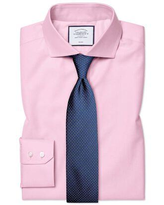 Slim fit cutaway non-iron twill pink shirt