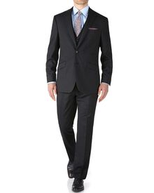 Charcoal slim fit end-on-end business suit