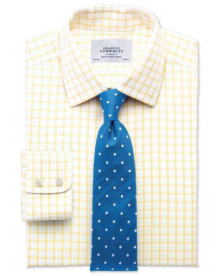 Royal and white silk classic spot tie