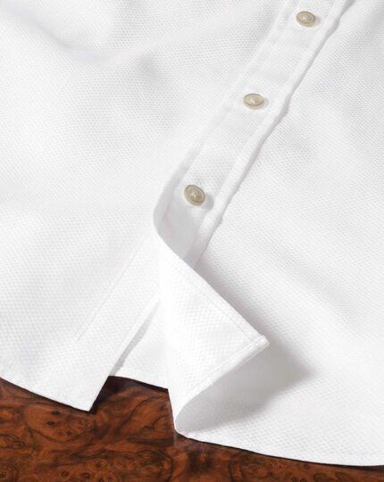 Classic Fit Hemd aus beidseitiger Pima-Baumwolle in Weiß