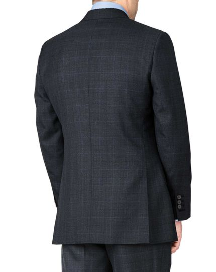 Blue slim fit thornproof luxury suit jacket