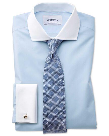 Chemise bleu ciel Winchester sans repassage slim fit avec col cutaway