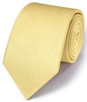 Light yellow silk plain classic tie
