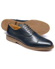 Navy Highbury toe cap Oxford shoes