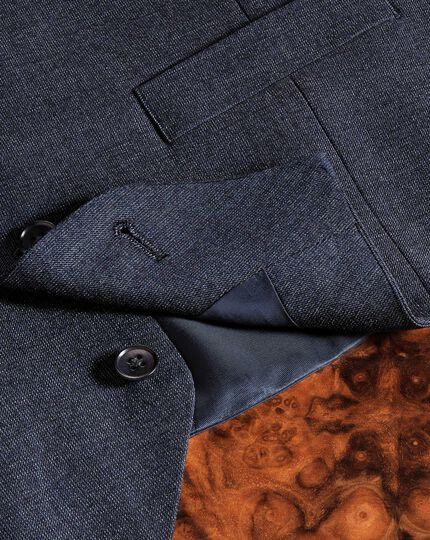 Verstellbare Business Anzug Weste aus Hairline in Airforceblau