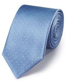 Sky silk classic geometric floral tie