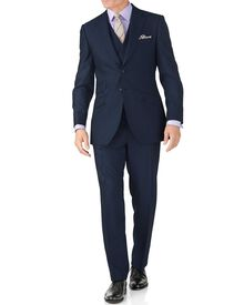 Blue slim fit British Panama luxury suit