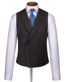 Charcoal British luxury suit waistcoat