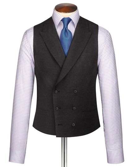 Charcoal British serge luxury suit vest