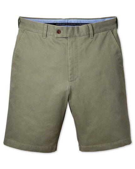 Light green slim fit chino shorts