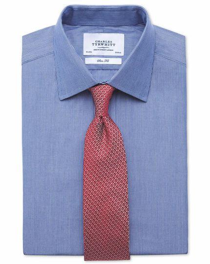 Extra slim fit fine stripe navy shirt