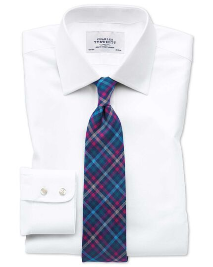 Classic fit Egyptian cotton cavalry twill white shirt