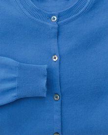 Women's blue cotton cashmere cardigan