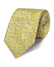 Lemon silk classic floral tie