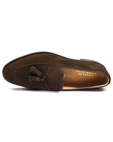 Brown Keybridge suede tassel loafers
