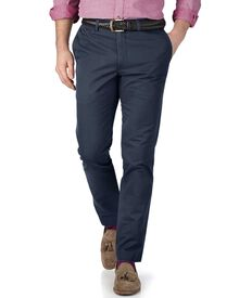 Airforce blue extra slim fit flat front chinos