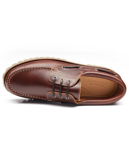 Brown Stamford boat shoes