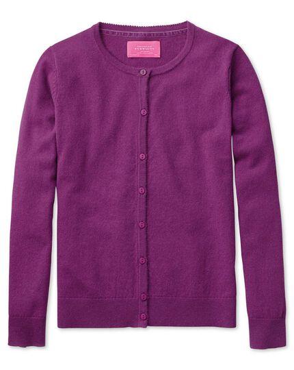 Purple merino cashmere cardigan
