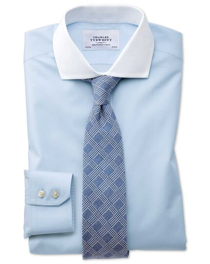 Slim fit cutaway collar non-iron poplin sky blue Winchester shirt