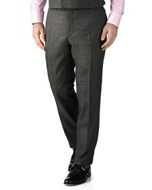 Dark grey slim fit morning suit pants