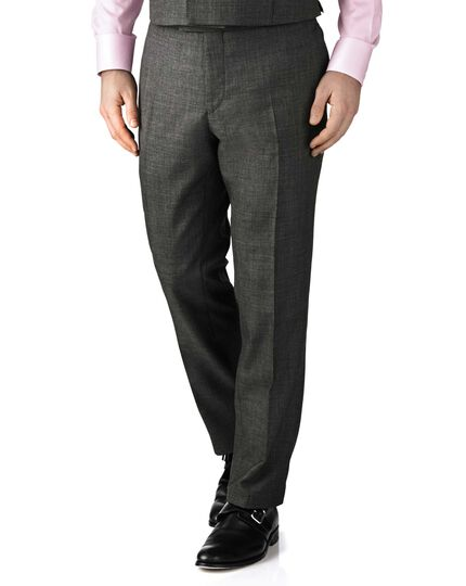 Dark grey slim fit morning suit trousers