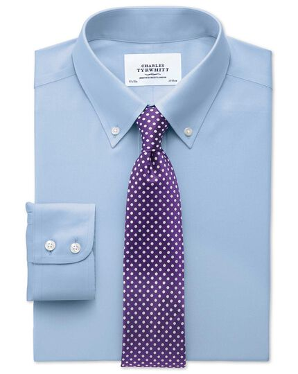 Purple silk classic Oxford spot tie