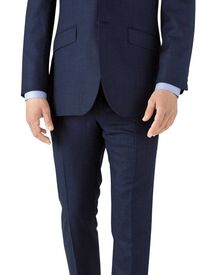 Costume business bleu roi en flanelle slim fit