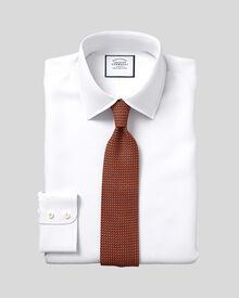 Classic fit Egyptian cotton poplin white shirt