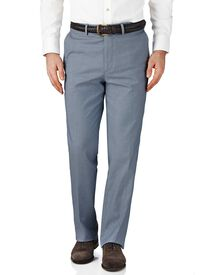 Blue chambray classic fit stretch cavalry twill pants