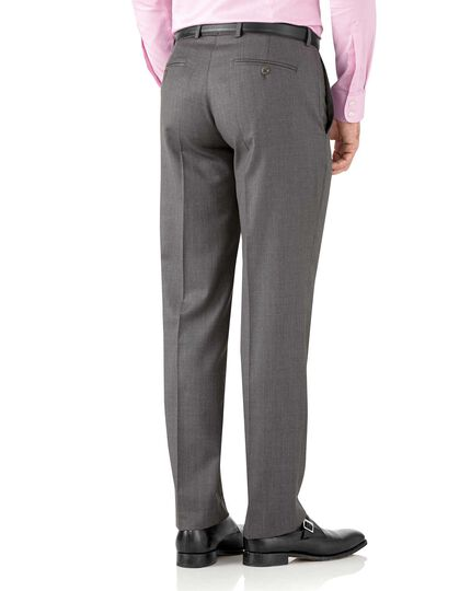 Grey classic fit Italian suit trousers