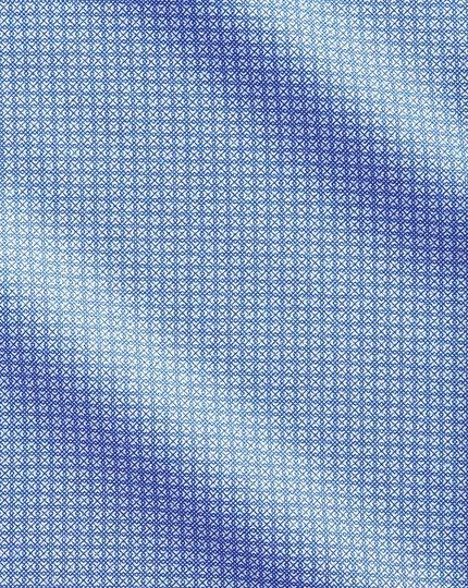 Chemise business casual bleue avec imprimé géométrique coupe droite