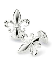 Silver Fleur-de-Lys cuff links