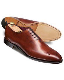 Brown Arthur calf leather wholecut shoes