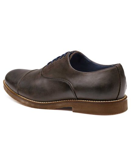 Brown Highbury toe cap Oxford shoes