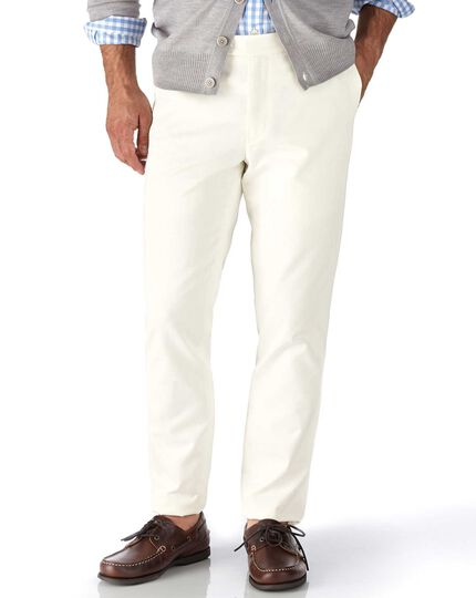 Chalk extra slim fit flat front chinos