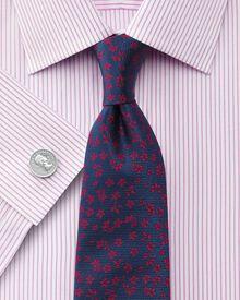 Slim fit Bedford raised stripe pink shirt