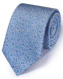 Sky silk classic paisley tie