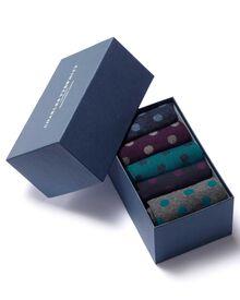 Socken-Geschenkset in Bunt mit Tupfenmuster