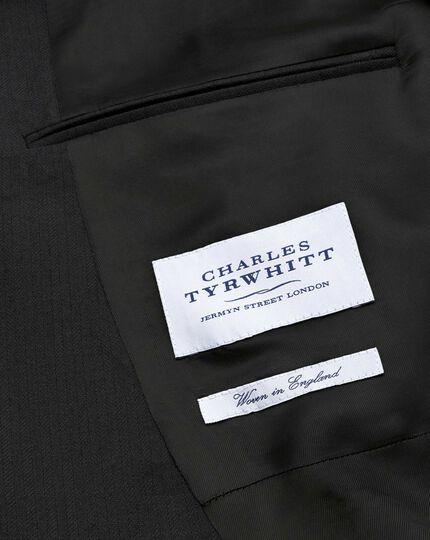 Black classic fit herringbone morning suit tail coat