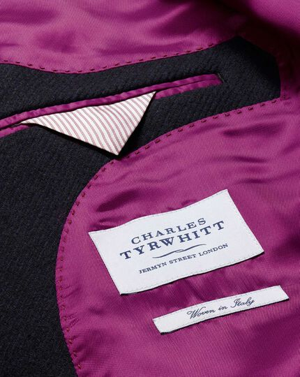 Slim fit Navy wool Epsom overcoat